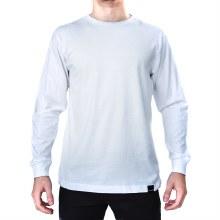 Bronxton White Simple Long Sleeve