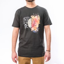 Bronxton Designs Printed Creative Brain T-Shirt
