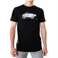 Bronxton Black Surf Printed T-Shirt