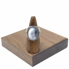 Bronxton Dendritic Agate Ring Size 9.5