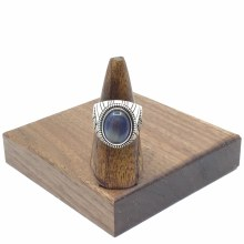 Bronxton Blue Tigers Eye Ring Size 11