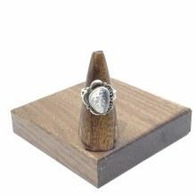 Bronxton Dalmatian Jasper Ring Size 9