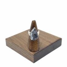 Bronxton Dendritic Agate Ring Size 9