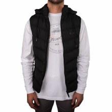 Bronxton Black Puffer Vest