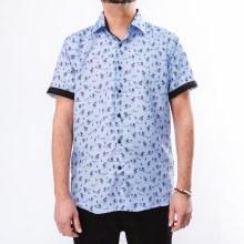 Bronxton Short Sleeve Island Print Button-Up Shirt