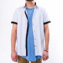 Bronxton Short Sleeve Clover Print Button-Up Shirt