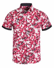 Rose Floral S/S Button Up Shir