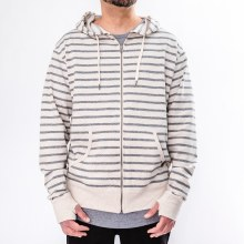 Bronxton French Terry Striped Zip Up Hoodie