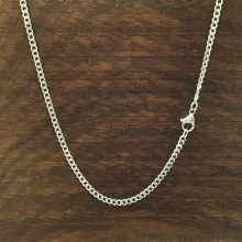 2mm Bronxton Cuban Stainless Steel Necklace
