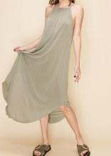 Halter Scoop Bottom Dress