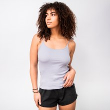 Scoop-front Ribbed Cami Tank Top