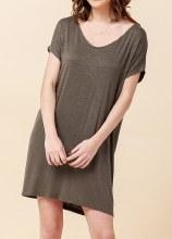 V Neck Dolman S/s Mini Dress
