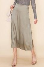 Satn Midi Skirt