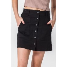 Black Button-Up Skirt With Pockets