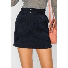 Dark Navy Pocketed Corduroy Mini Skirt