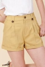 Button Pleated Short
