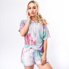 Short Sleeve Tie Dye Terry Top