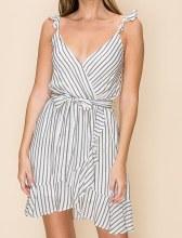 Stripe Ruffle Dress