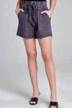 High Waisted 4-pockert Paperbag Short