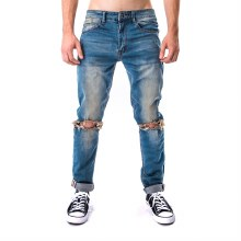 Kayden K Open Knee Ankle Inner Tape Jeans