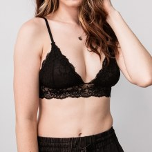 Triangle Cup Lace Bralette