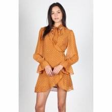 Mustard Polka Dot Short Dress