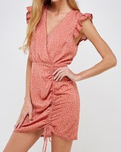 ESSUE RUNCHED SIDE DRESS