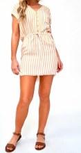 Button Striped Dress