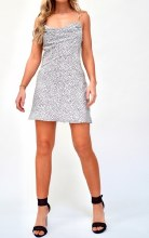 Polka Dot Satin Dress