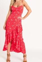 Open Tie Back Asymmetrical Dress