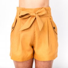 High Wasted Paperbag Shorts
