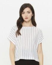 Striped Tee W/ Contrast Back
