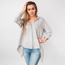 3/4 Sleeve Boyfriend Fit Button Down Top