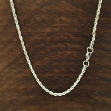 3mm Bronxton Rope Stainless Steel Necklace