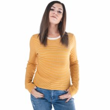 Broxton Long-sleeve Round-neck Striped Top