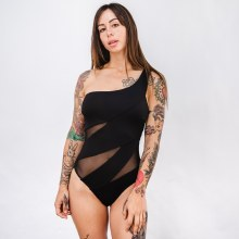 Mesh Detail One Piece Swimsuit