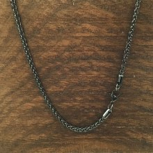 3mm Bronxton Spiga Stainless Steel Necklace