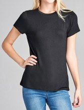 Short-sleeve Crew-neck Jersey T-shirt
