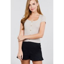 LIGHT TAUPE SHORT SLEEVE DEEP
