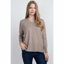 HEATHER MOCHA HOODED SWEATSHIR