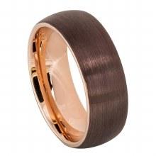 Brushed Brown Ring - 8mm