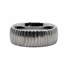JD Tree Bark Tungsten Ring