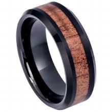 Hawaiian Koa Wood Inlay Ring -