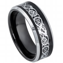 JD 8MM STAINLESS CELTIC INLAY