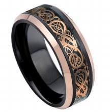 Black&Rose Gold Celtic Inlay R