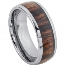 Rosewood Inlay Ring- 8mm