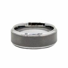 JD Sandblasted Tungsten Ring