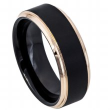 Two-Tone Black&Rose Gold Cente