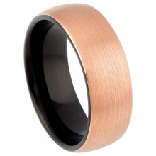 8mm Two Tone Rose Gold Ring