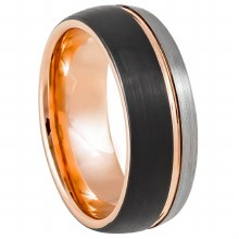 Three-Tone Grooved Center Ring